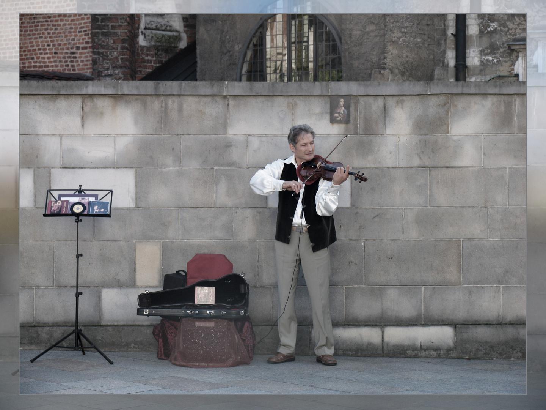 Straßenmusiker in Krakau