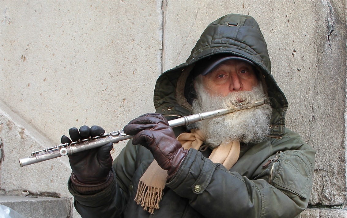 Strassenmusiker in New York