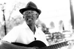 Strassenmusiker in S/W, Cuba