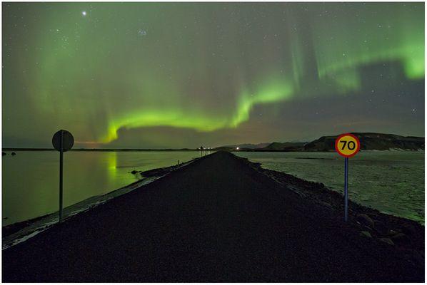 Strassenscene in Island