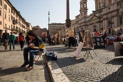 Strassenscene in Rom I