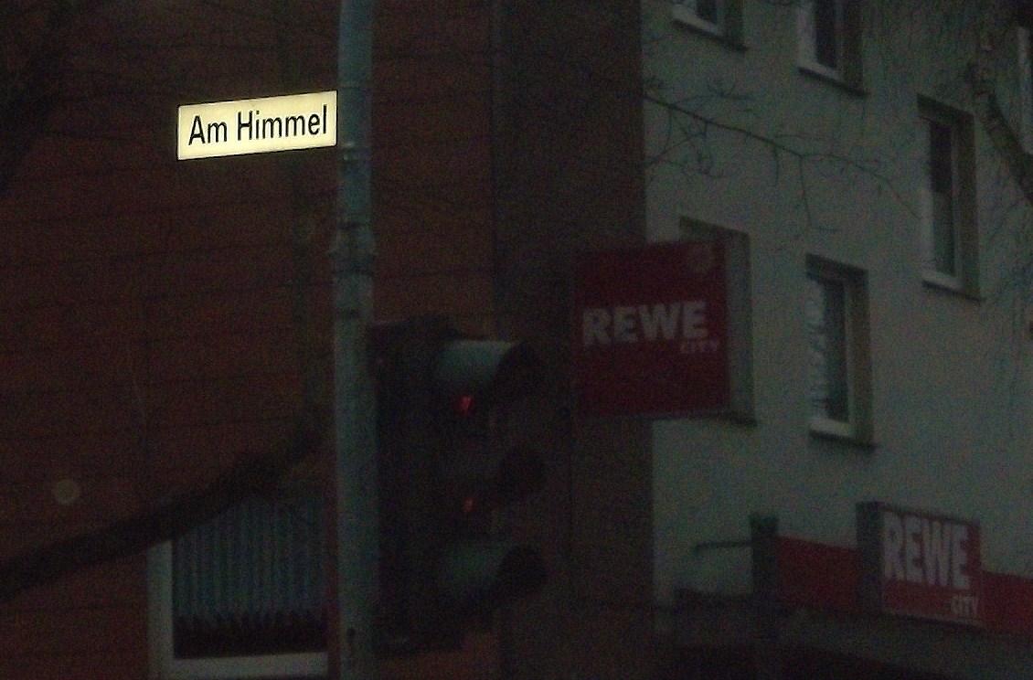 """Straßenschild """"Am Himmel"""""""