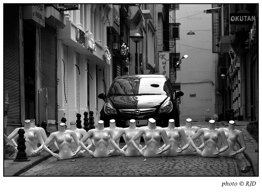 Straßensperre, türkisch ...