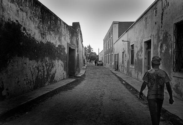 Straßenszene Ilha do Mosambique