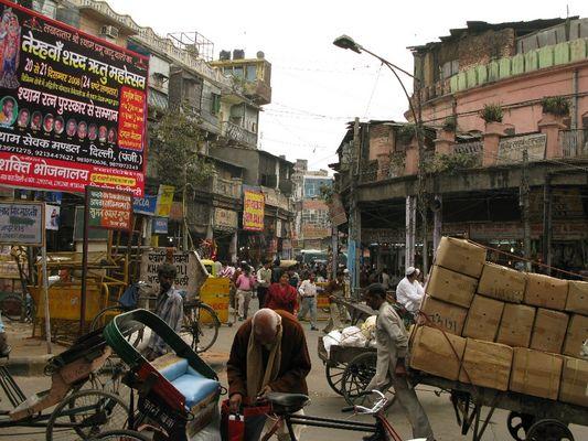 Straßenszene in Alt-Delhi