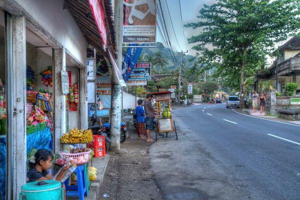 Straßenszene in Candidasa