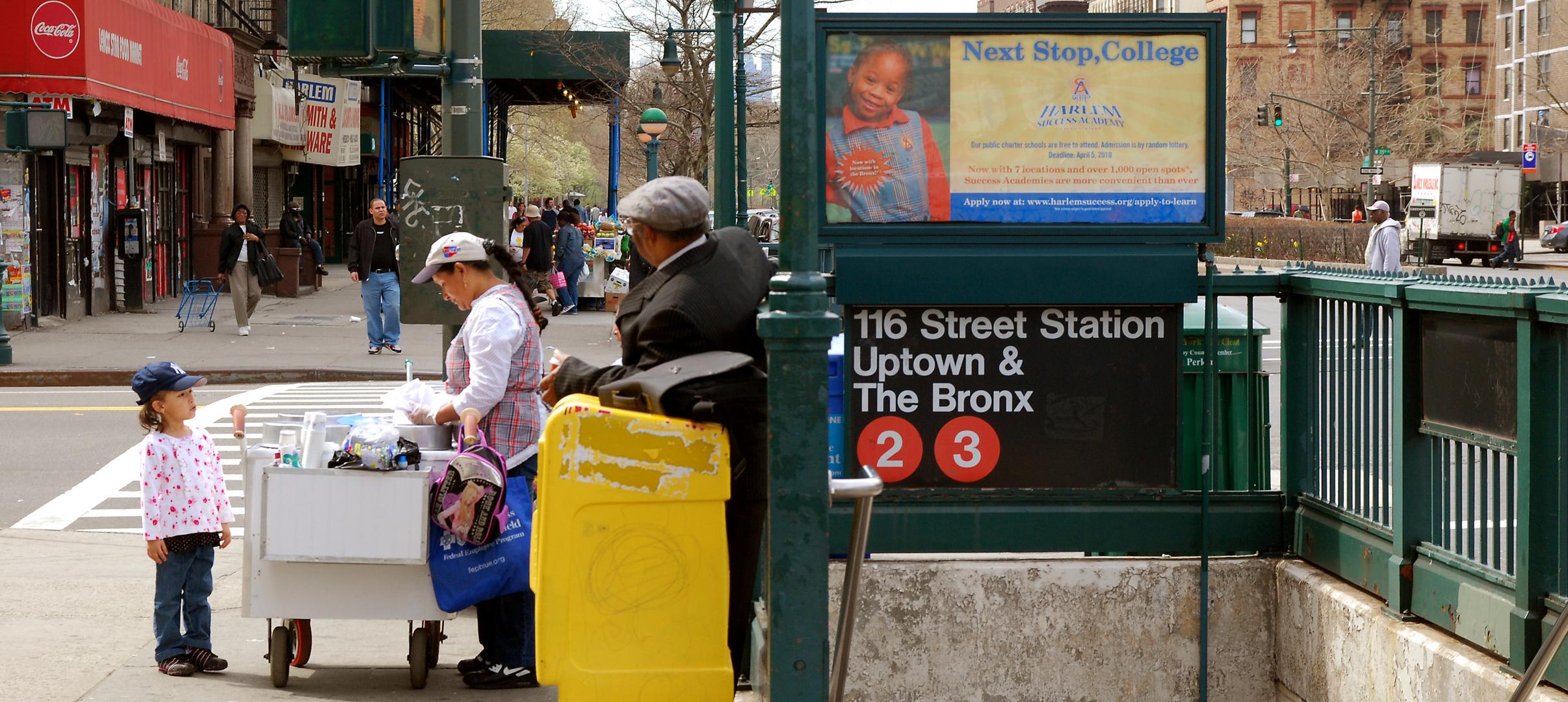 Straßenszene in Harlem