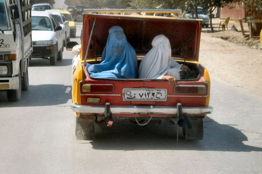 Straßenszene in Mazar-e Sharif