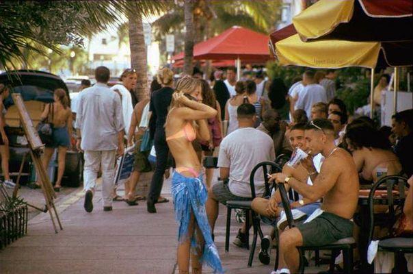 Straßenszene in Miami Beach