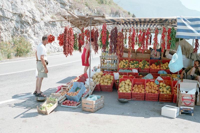 Straßenverkauf an der Amalfiküste