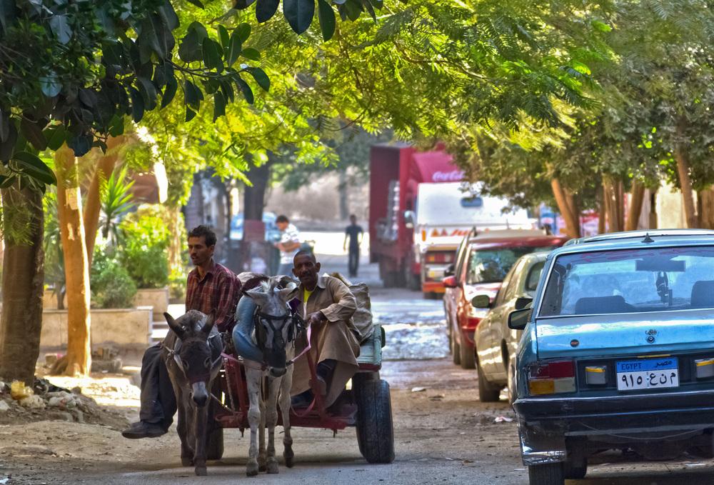 Straßenverkehr in Cairo