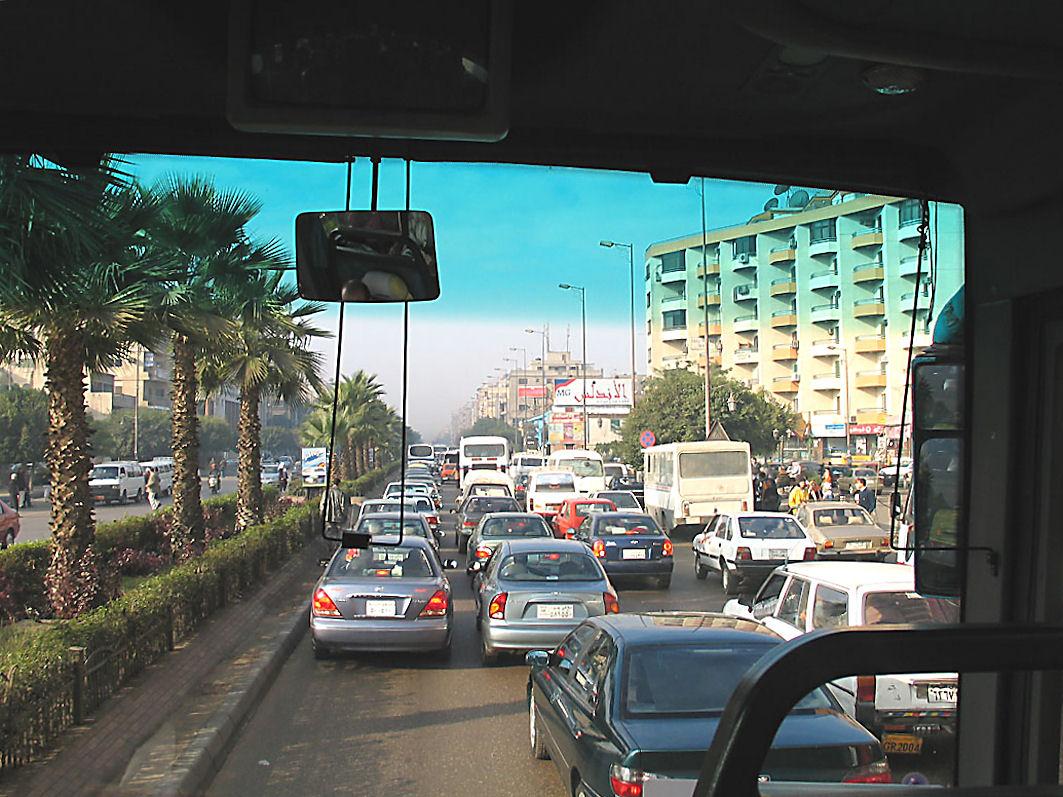 Strassenverkehr in Kairo