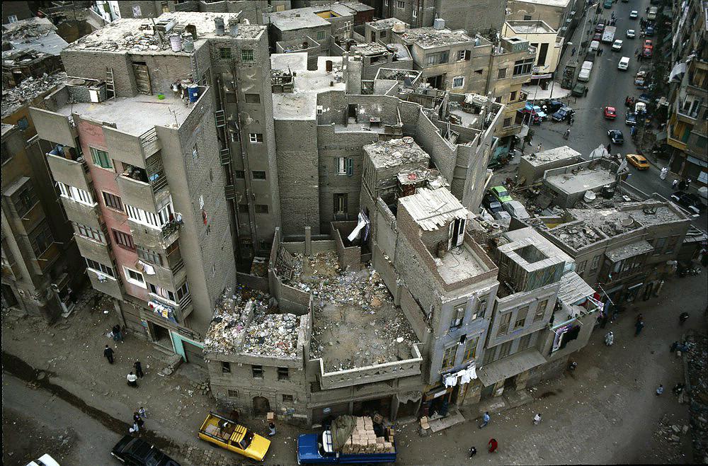 Straßenviertel in Cairo