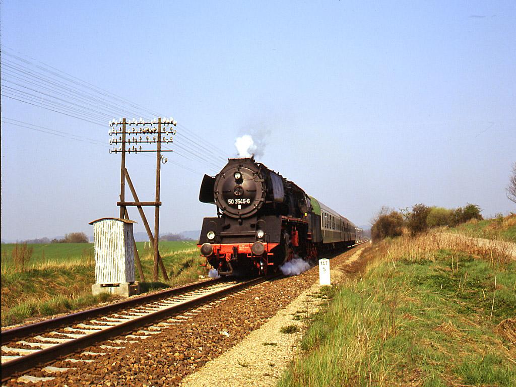 Streckenbild zwischen Teterow und Malchin