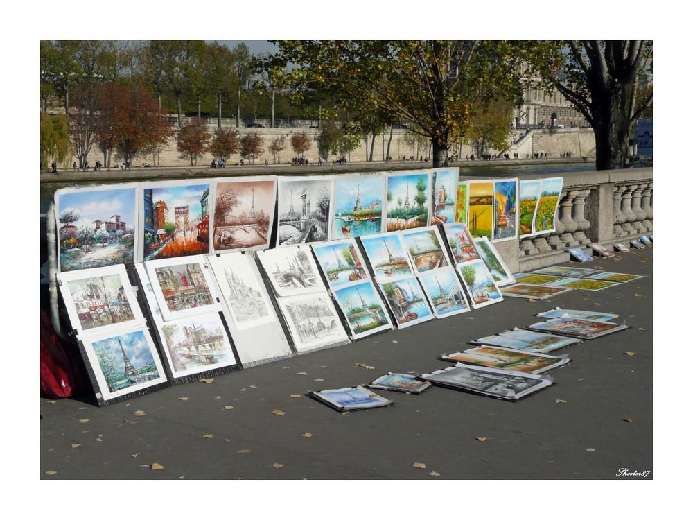 Street art along the Seine