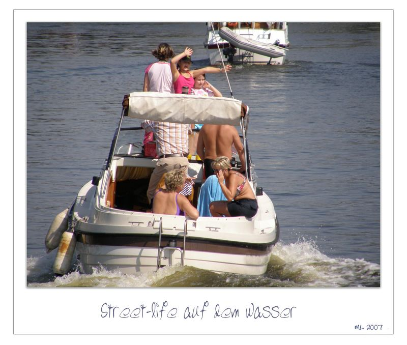 Street-life auf dem Wasser