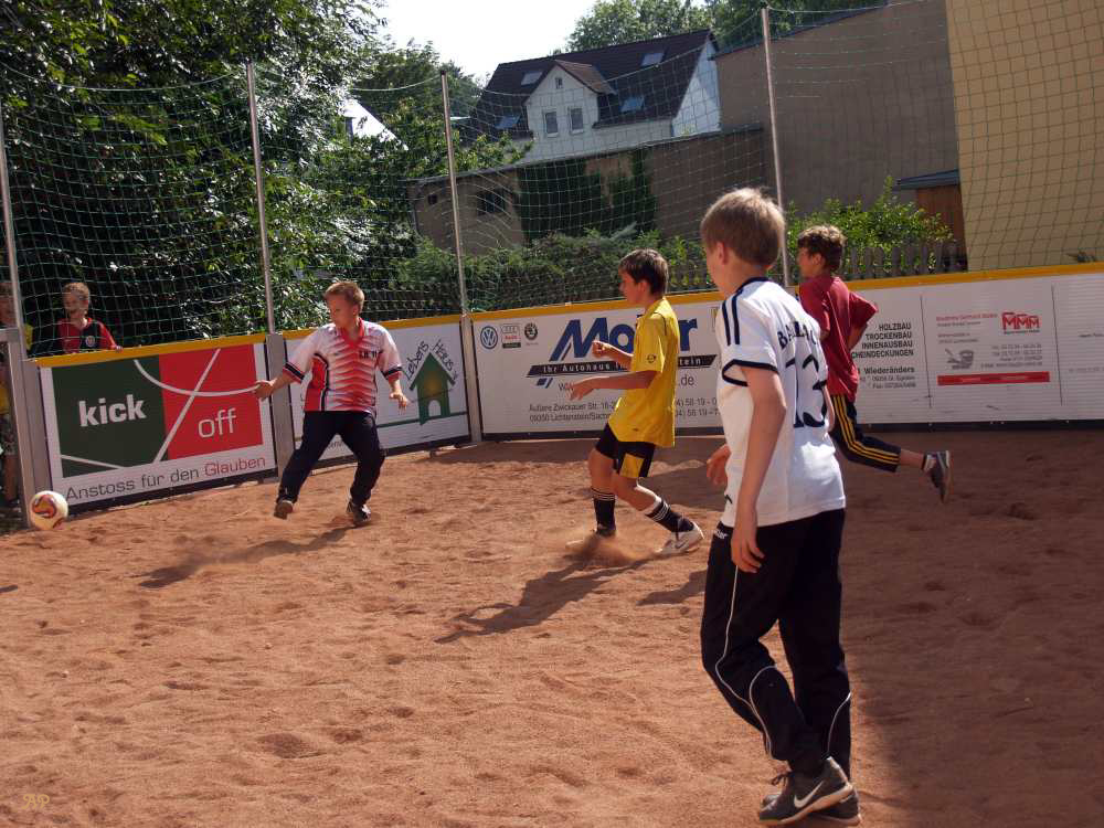 Street Soccer in action
