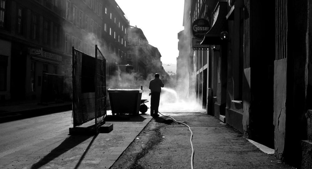 street worker BW