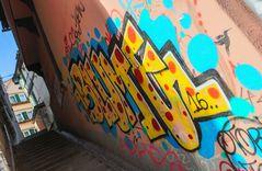 streetart BLUME und VOGEL OK