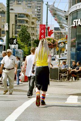 Streetscene Vancouver Robson Street