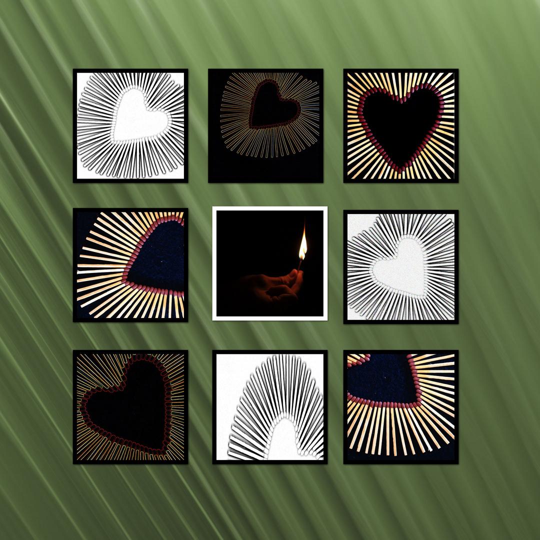 Streichholz - Herz