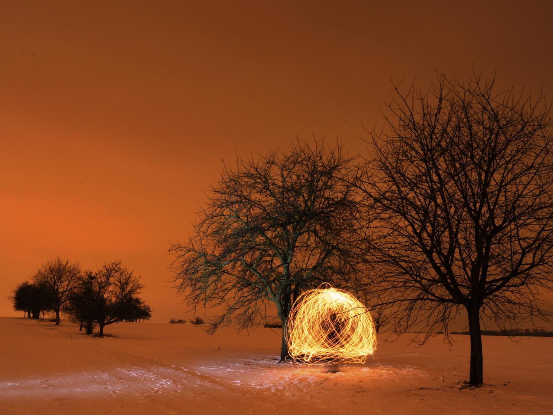 """Streuobstwiese - Im Winter V - """"Feuerkugel2""""- LAPP"""