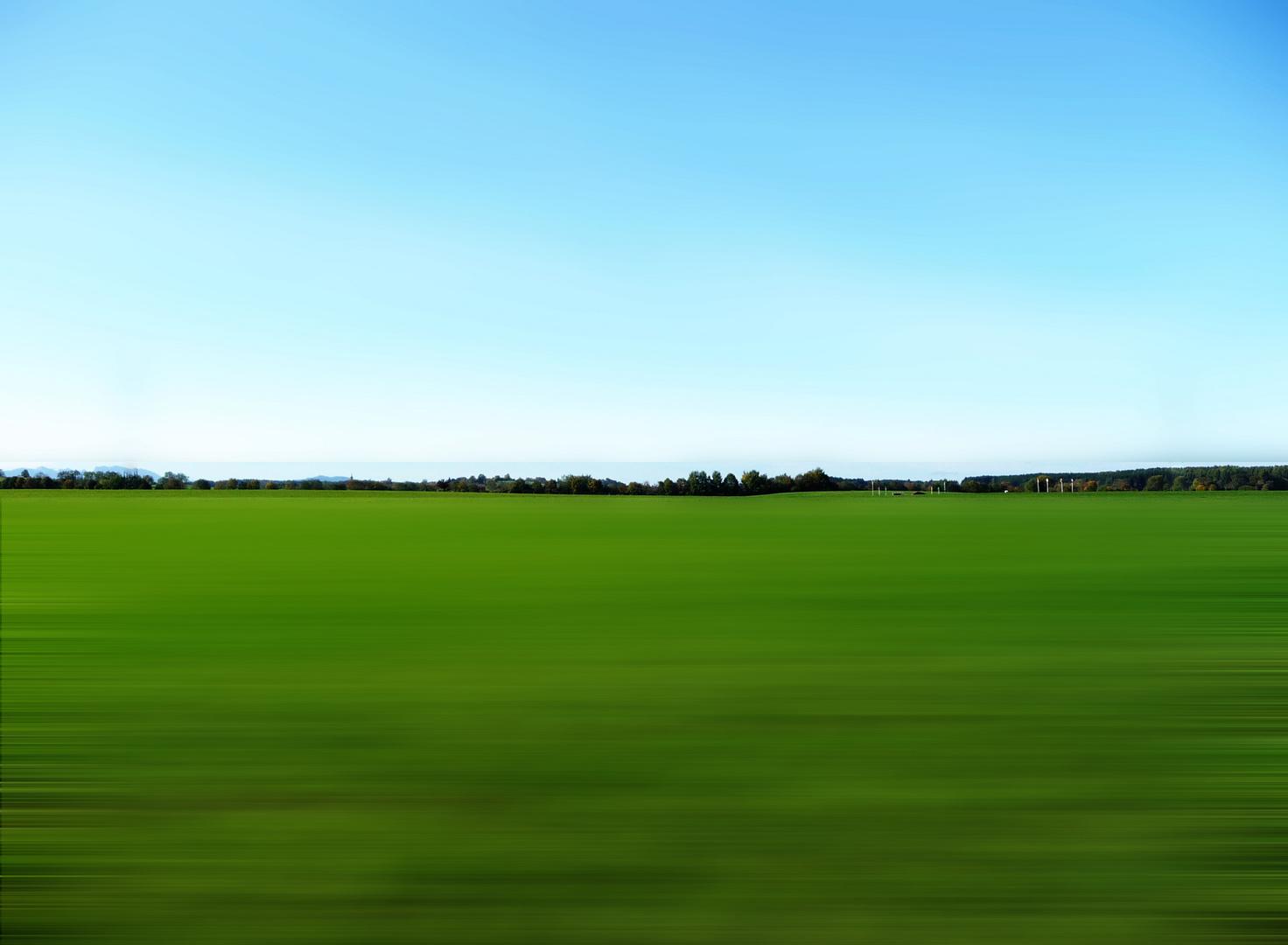 Strich in der Landschaft