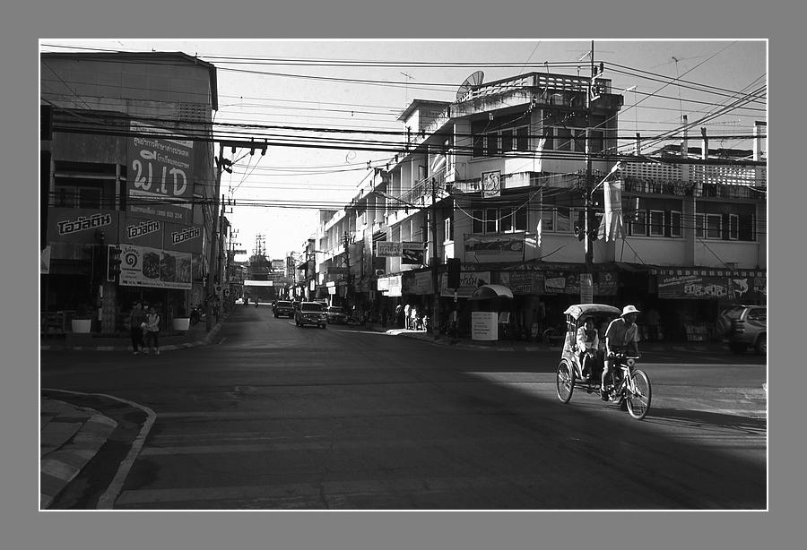 Stromkabel, Rikscha - Chiang Rai