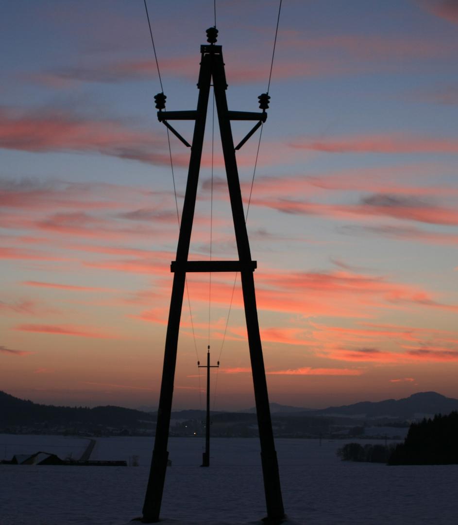 Stromleitung - A-Mast