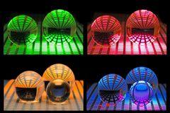 Struckturen, mit Glakugeln und Licht