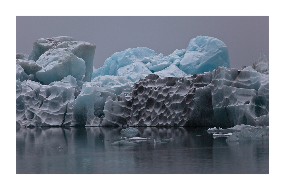 Strukturen im Eis - Joekulsárlón 2013