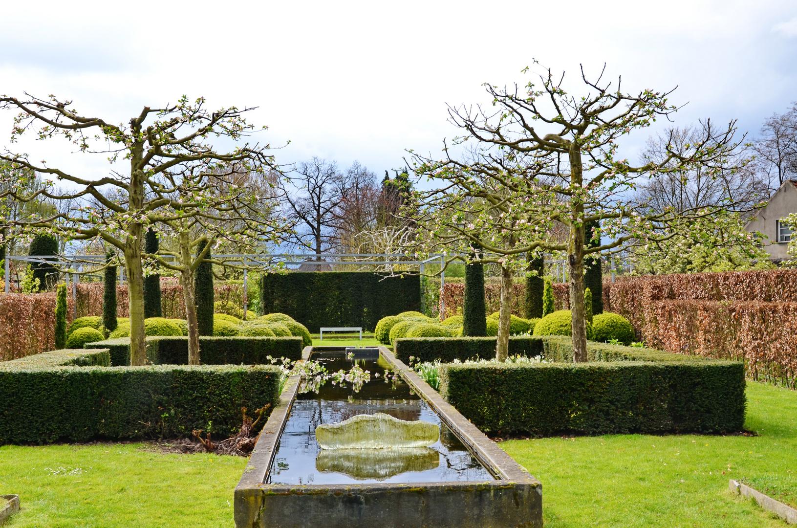 strukturierter Garten