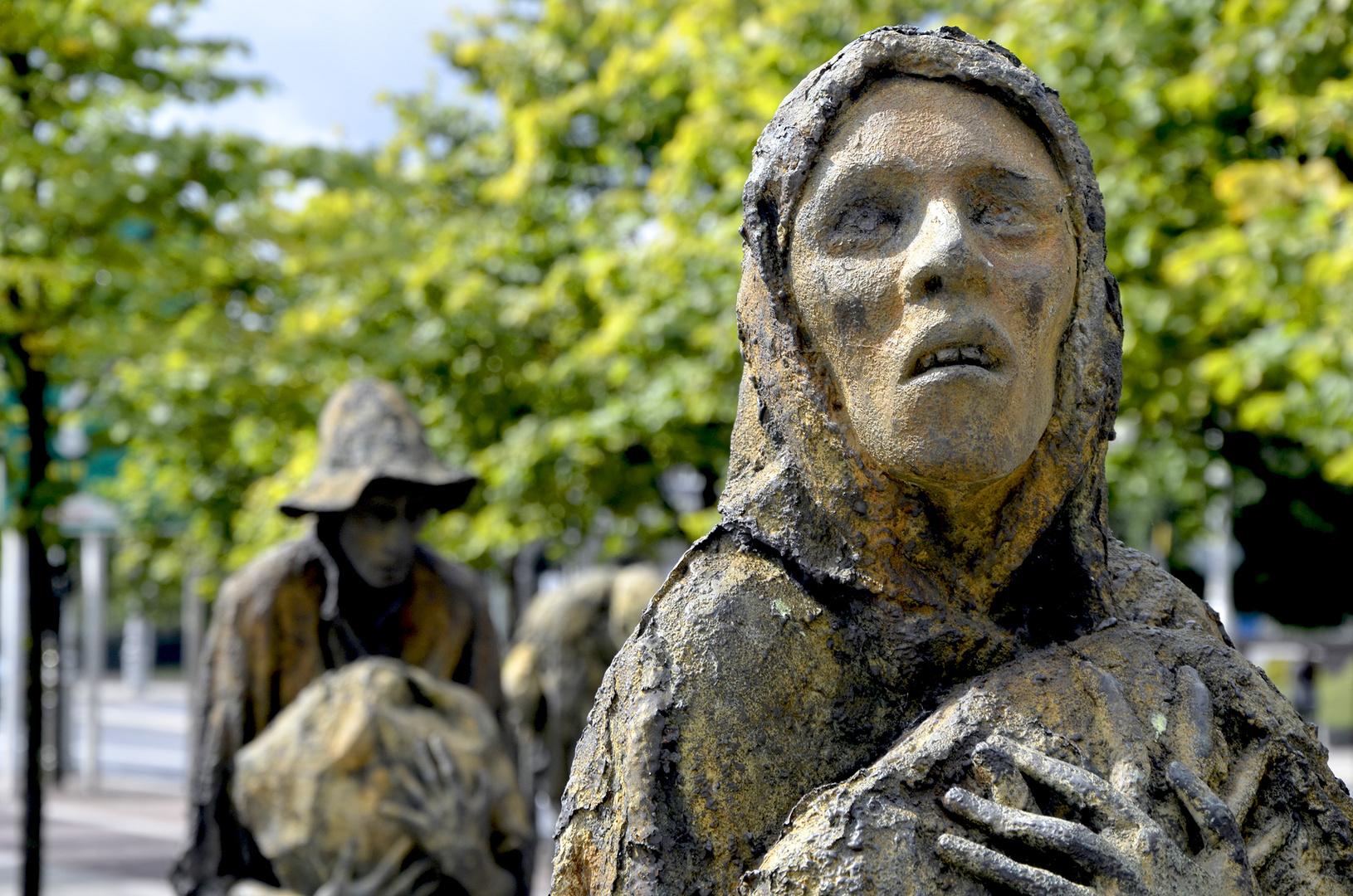 St.Stephen's Green Park, Denkmal Große Hungersnot, Dublin, Irland