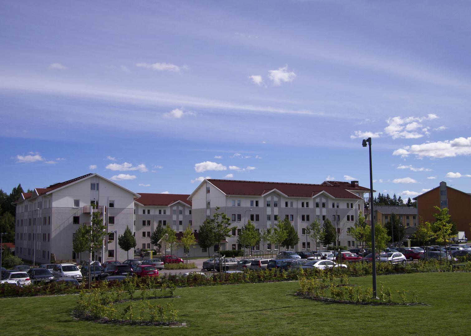 Studentenwohnheime auf dem Campus der Linnéuniversität in Växjö