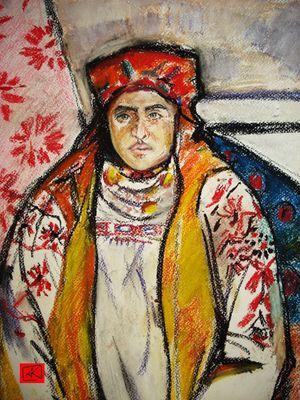 """Studie von """"Bäuerin aus Tula"""" von Natalja Gontscharowa"""