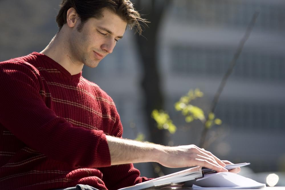 Studieren im Sonnenschein