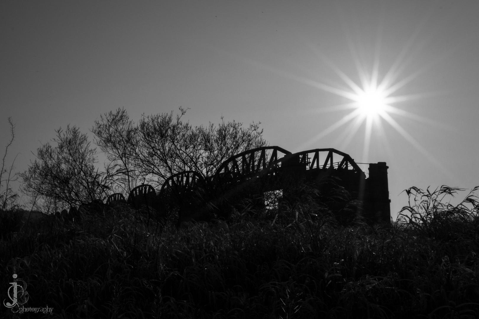 Stück von der Eisenbahnbrücke