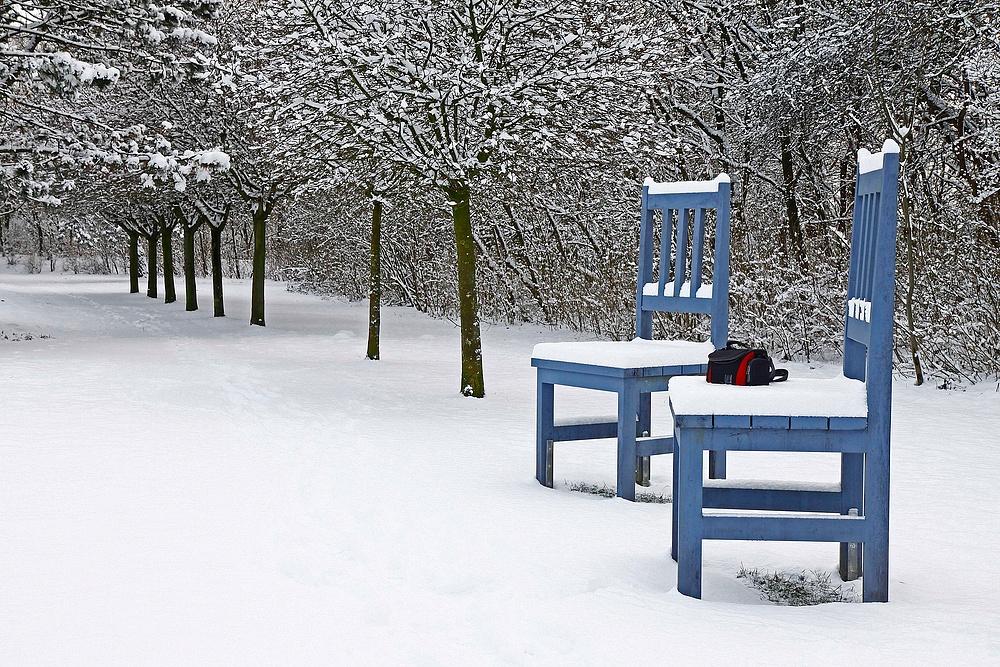 Stühle Im Schnee
