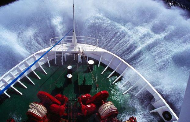 Stürmische Überfahrt