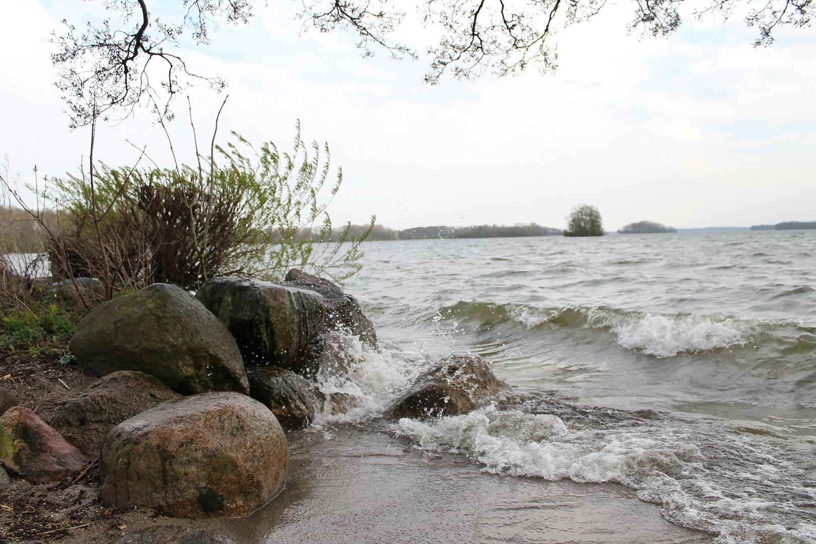 Stürmischer Plöner See