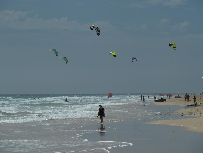 stürmischer tag am strand