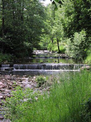 Stufenweises Wasser