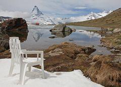 Stuhl an Matterhorn