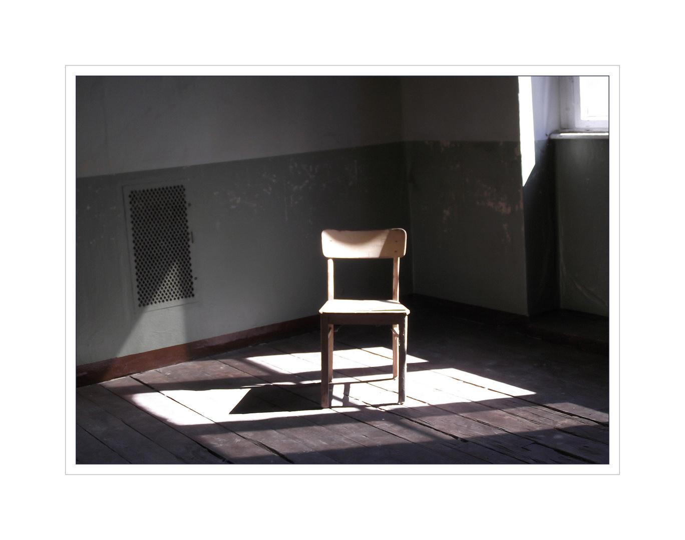 Stuhl im Licht