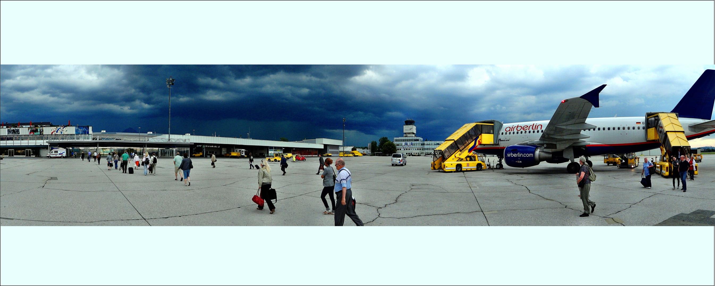 Sturm am Flughafen