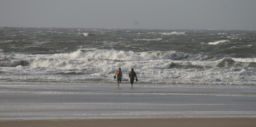 Sturm an der Nordsee bei St.Peter Ording