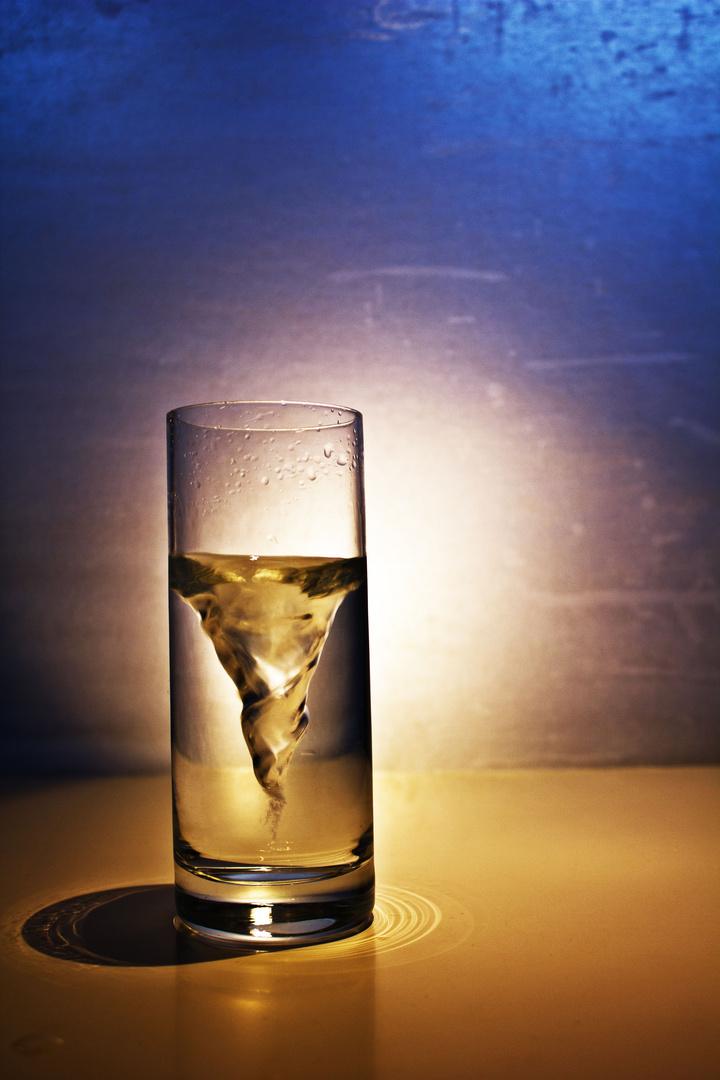 Sturm im Wasserglas -Versuch 1