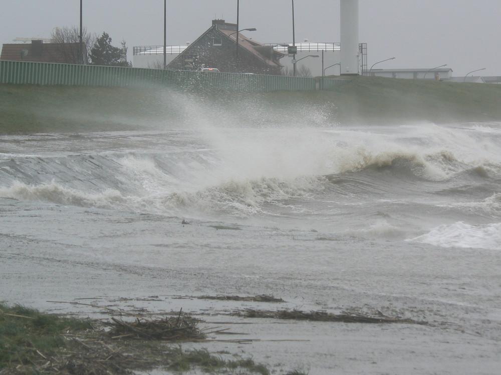 Sturm in Bremerhaven 1