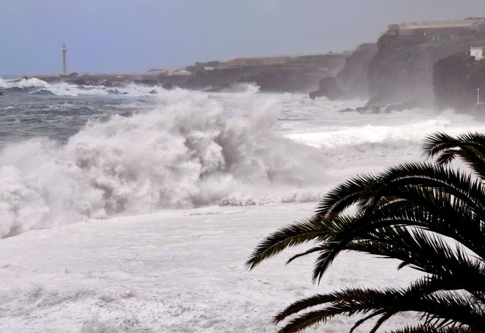 Sturm in Puerto Naos