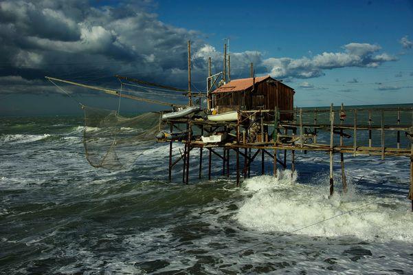 Sturm in Termoli ( Italien )